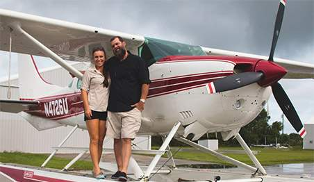 Michael and Sheena Hoover, have an extensive background in aviation, marine, tour and business operations. As professional Pilots/Flight Instructors, Michael and Sheena have a combined experience of over thirty years.