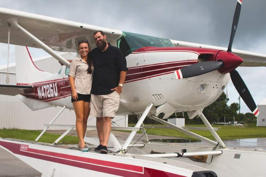 Michael and Sheena Hoover, Pilots and Certified Flight Instructors of Treasure Coast Seaplanes